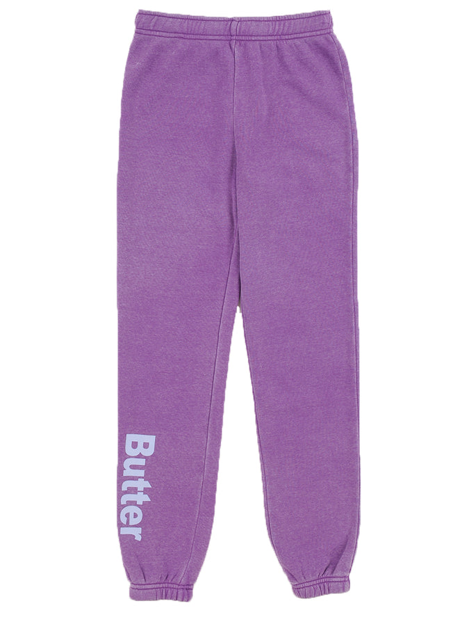 Girls Sparkling grape Burnout Fleece Varsity Pant