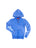Girls Strong Blue Solid Burnout Hoodie 2 Alternate View