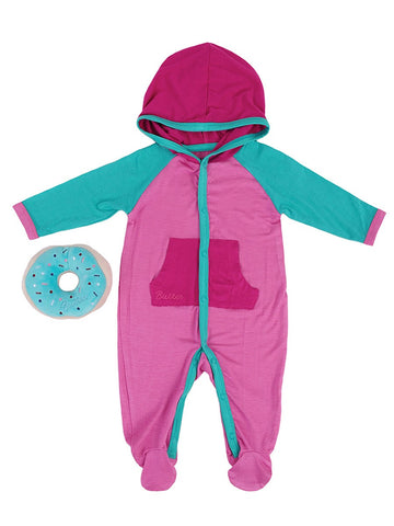 Girls Super Pink Colorblock Onesie