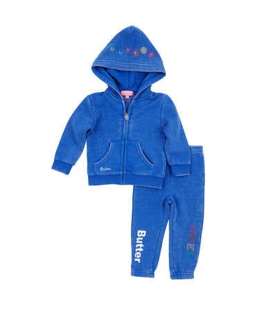 Girls Turkish Sea Gumballs Burnout Fleece Zip Set 2 Alternate View