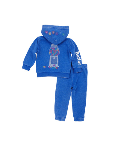 Girls Turkish Sea Gumballs Burnout Fleece Zip Set