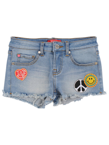 Girls Vintage Cut-Off Super Soft Denim Short