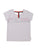 Girls White Starry Rainbow T-Back Jersey Tee 2 Alternate View