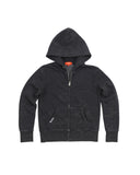 Kids Black Mineral Wash Fleece Zip Hoodie 2