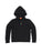 Kids Black Solid Fleece Zip Hoodie 2 Alternate View