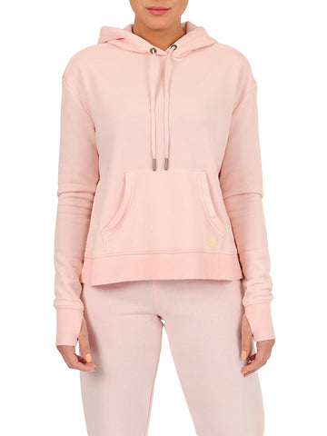 Womens Bashful Pullover Hoodie with High Side Slits