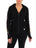 Womens Black Double Striped Blinged Out Zip Hoodie w/ Multi Color Rhinestones