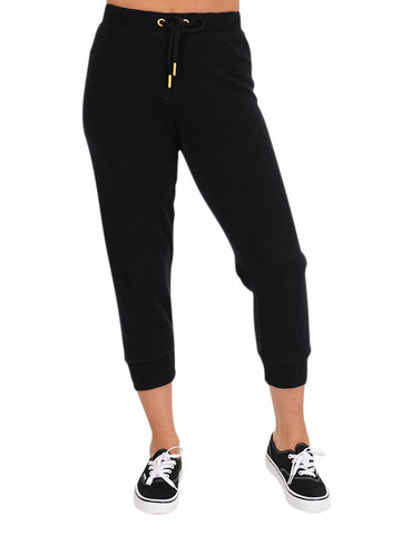 Womens Black Basic Jogger