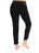 Womens Black Coated Step Hem Jogger 2 Alternate View