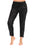 Womens Black Coated Step Hem Jogger
