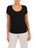 Womens Black Scoop Neck T-Shirt