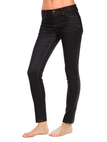 Womens Black Wax Coated Jegging