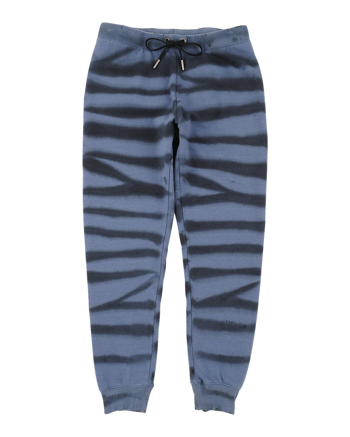 Womens Blue Jean  Tiger Dye Basic Jogger