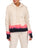 Womens Coral Pop/Indigo Dip-Dye Dip-Dye Pullover with High Side Slits