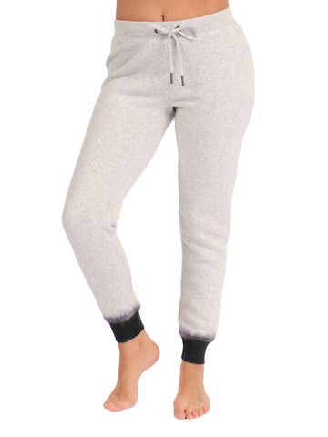 Womens Dove Grey Dip-Dye Basic Jogger