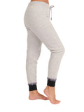 Womens Dove Grey Dip-Dye Basic Jogger 4