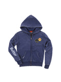 Womens Eclipse Smile Patches Burnout Fleece Zip Hoodie 2