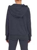 Womens Indigo Blinged Out Pullover Hoodie 2