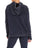 Womens Indigo Pullover Hoodie with High Side Slits 2 Alternate View