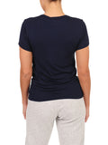 Womens Indigo Scoop Neck T-Shirt 2