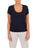 Womens Indigo Scoop Neck T-Shirt