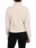 Womens Marshmallow Cropped Sherpa Bomber Jacket 2