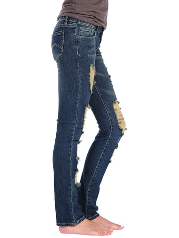 Womens Medium Wash Medium Wash Ripped Skinny 2 Alternate View