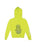 Womens Neon Yellow Hamsa Hand Burnout Zip Hoodie 2 Alternate View
