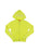Womens Neon Yellow Hamsa Hand Burnout Zip Hoodie