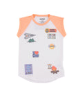 Womens Peach Nectar Happy Camper S/S Jersey Tee