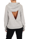 Womens Pebble Grey Open Back Sweatshirt 2