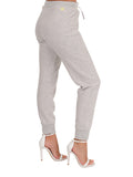 Womens Pebble Grey Basic Jogger 2