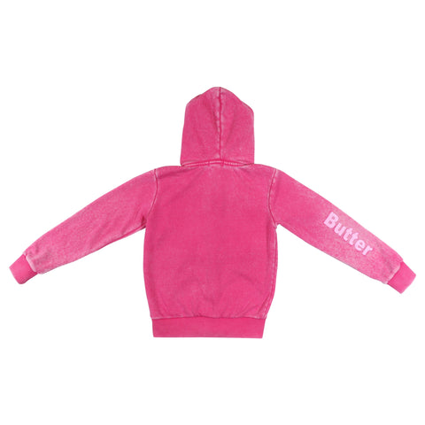 Womens Pink Reversible Plush Hoodie 2 Alternate View
