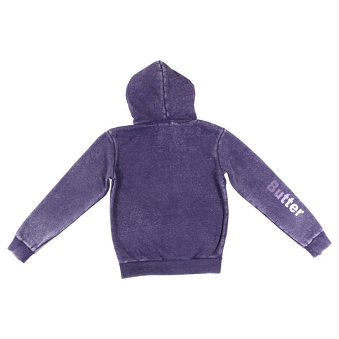 Womens Purple Reversible Plush Hoodie 2 Alternate View