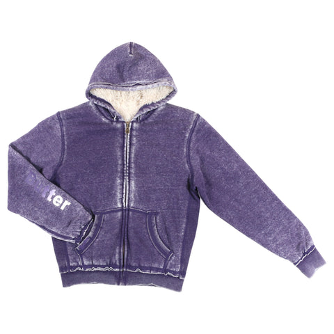 Womens Purple Reversible Plush Hoodie
