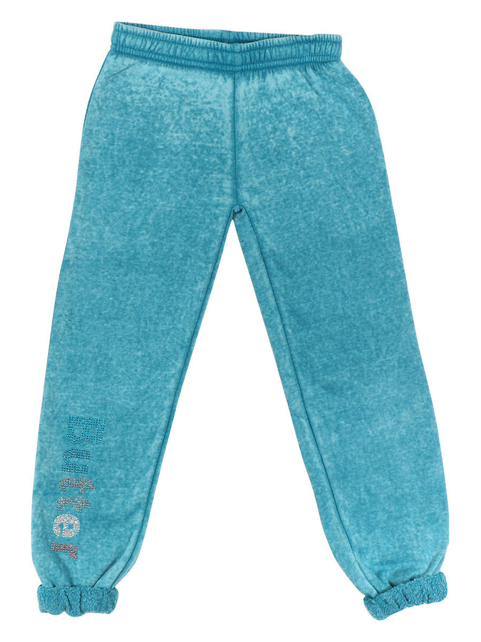 Womens Teal The Athlete Varsity Burnout Pant