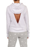 Womens White Open Back Sweatshirt 2