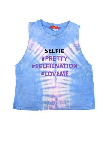 Womens Blue Kids Selfie Hendrix Muscle Tee