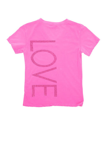 Womens Hot Pink Kids Love High Heel Tee 4 Alternate View