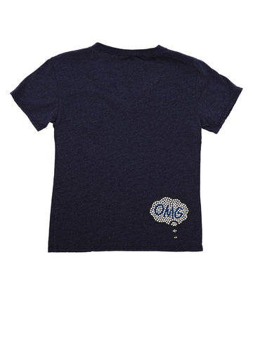 Womens Navy Kids OMG Pow Tee 4 Alternate View