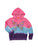 Womens Pink/Blue/Purple Kids Triple Dip Dye Butterfly Pullover
