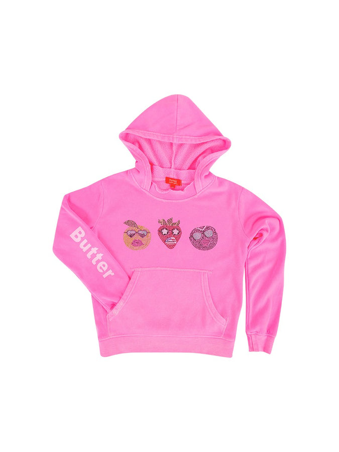 Womens Pink Kids Cool Fruit Pullover