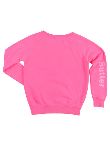 Womens Pink Kids Biting Lips Raglan 4 Alternate View