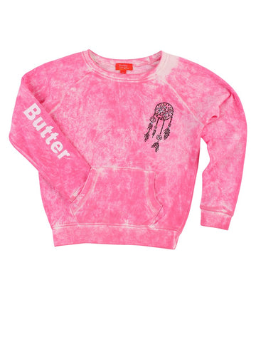 Womens Pink Kids Foam Wash Dreamcatcher Raglan