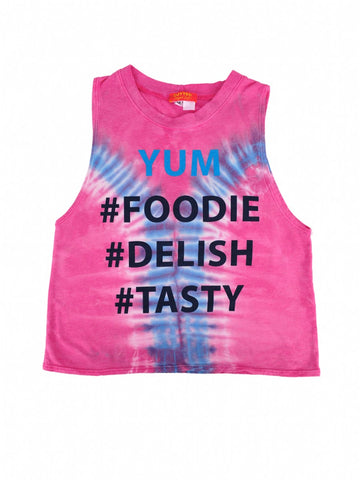 Womens Pink Kids Yum Hendrix Muscle Tee