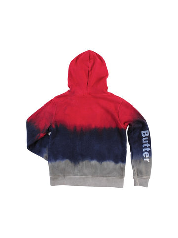 Womens Red/Navy/Grey Kids Triple Dye Emoji Pullover 4 Alternate View