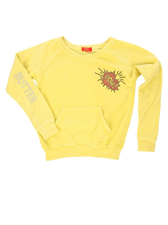 Womens Yellow Kids Pow Raglan