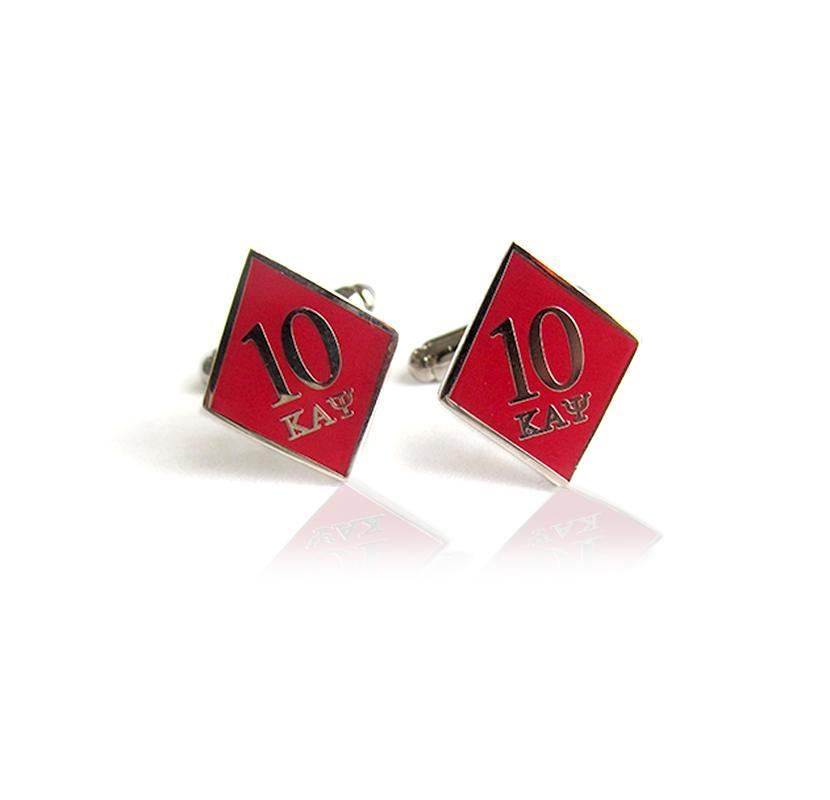 Kappa Alpha Psi 10 Klub Diamond Cufflinks