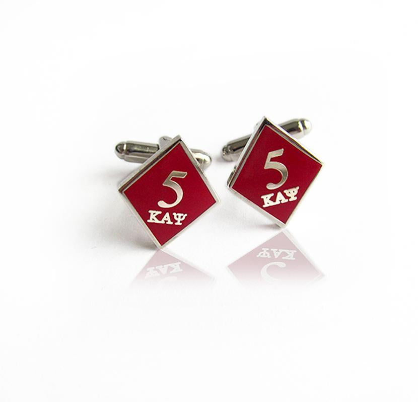 Kappa Alpha Psi 5 Klub Diamond Cufflinks