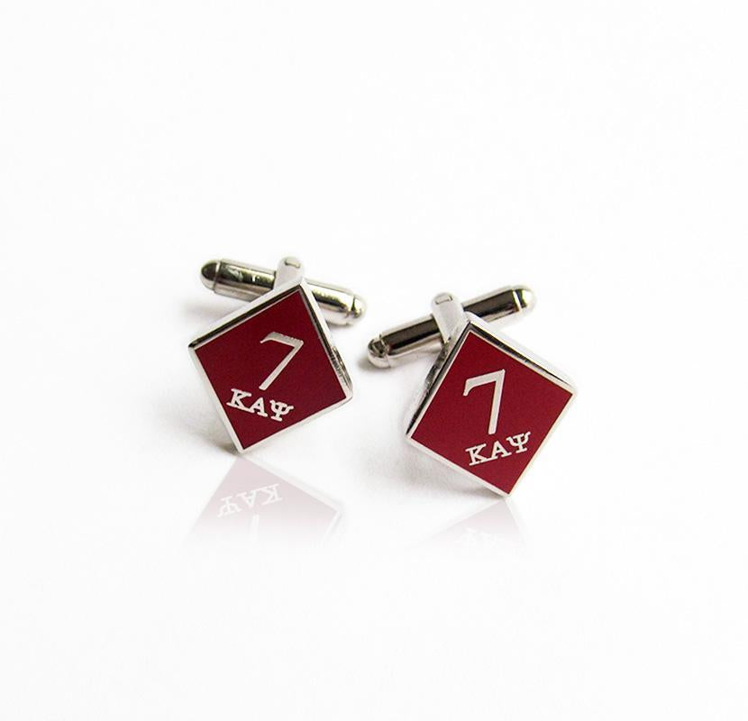 Kappa Alpha Psi 7 Klub Diamond Cufflinks